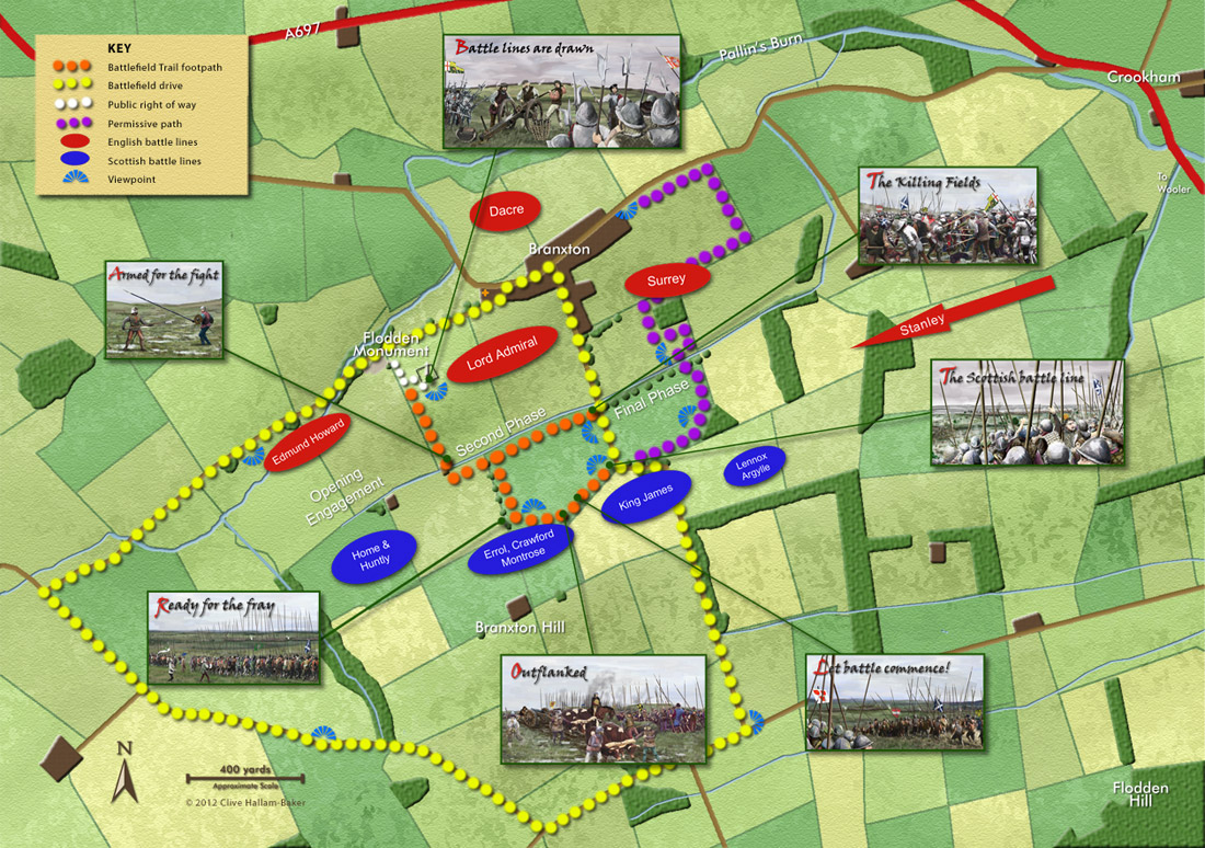 The Battle of Flodden - Map of the Battle